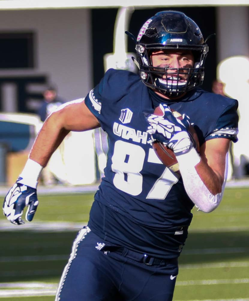 hot sale online e690b eaac9 Utah State Tight End Dax Raymond invited to play in Reese's ...