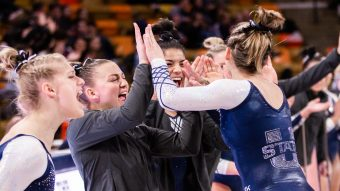 Mountain Rim Gymnastics Conference honors 12 Aggies for academic