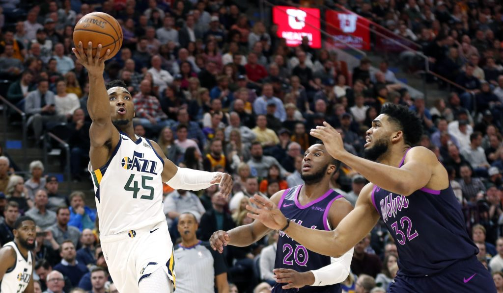 c8c8b523 Mitchell, Crowder help Jazz crush tired Timberwolves 120-100 – Cache Valley  Daily