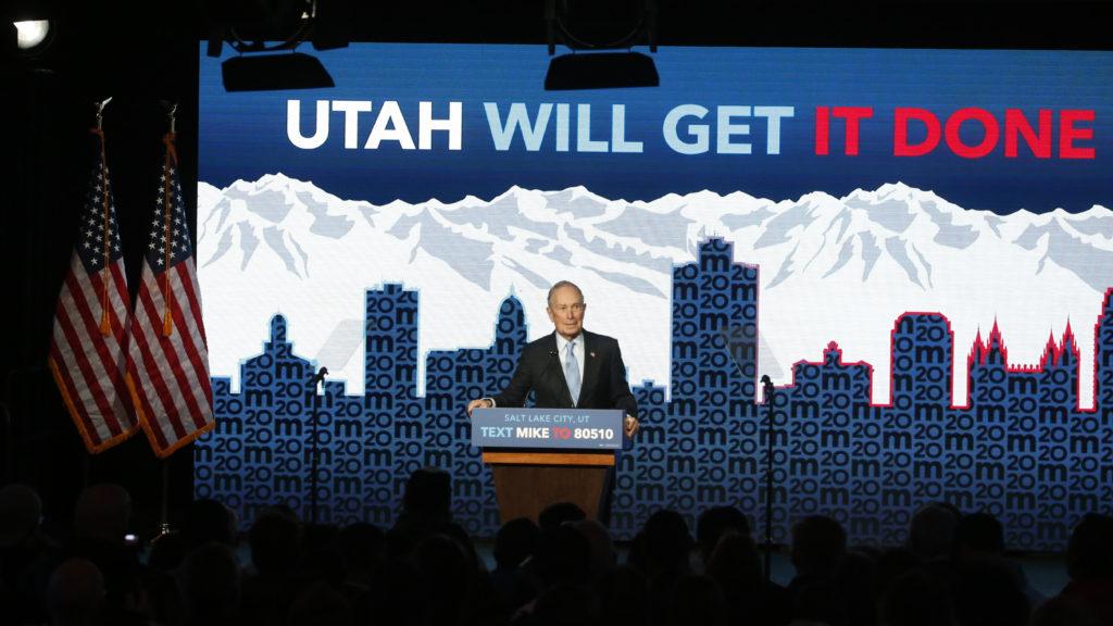 Bloomberg's unusual 2020 strategy turns to Utah post-debate
