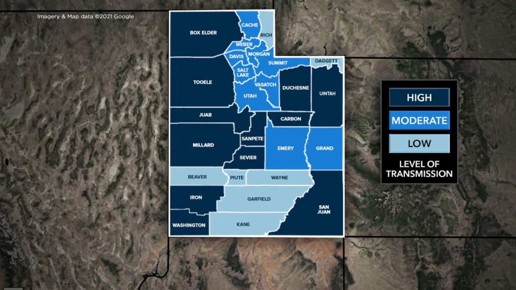 12 Utah counties now back into High Transmission category